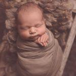 newborn sleeping deeply during glasgow newborn photography