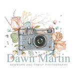 Dawn Martin Camera with flowers branding logo.