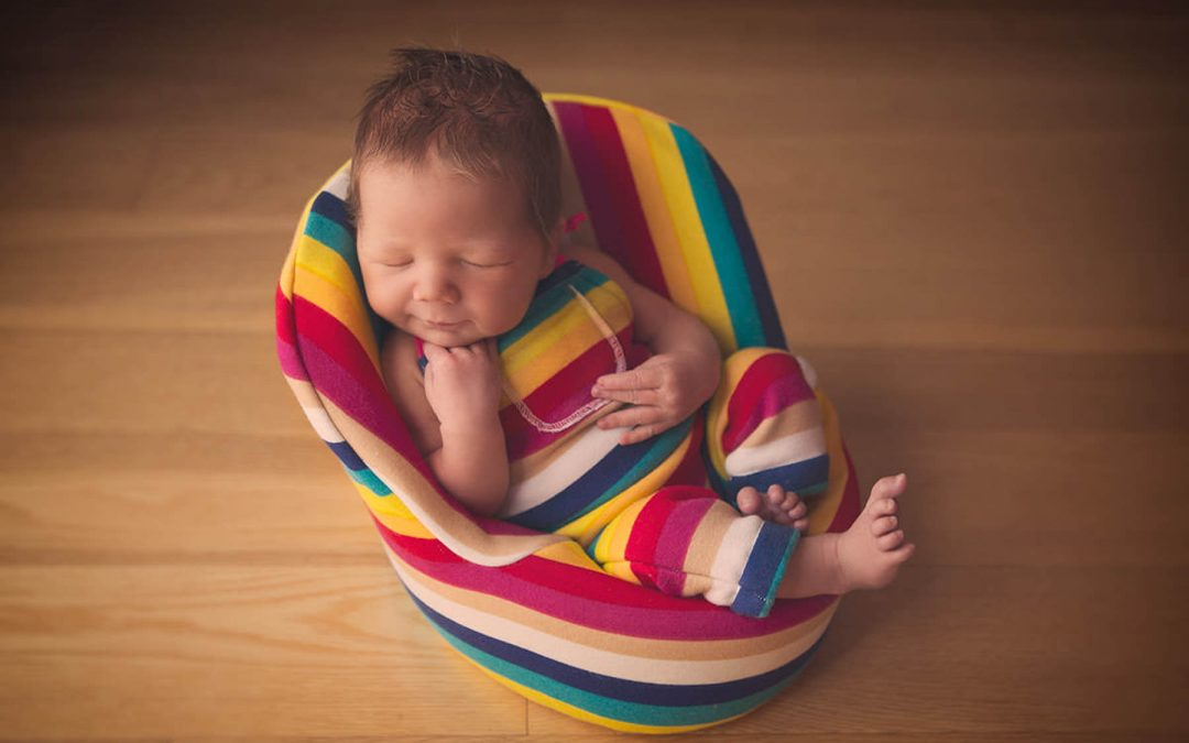 Seven Day Old Newborn Baby Portrait Session – Baby Cooper